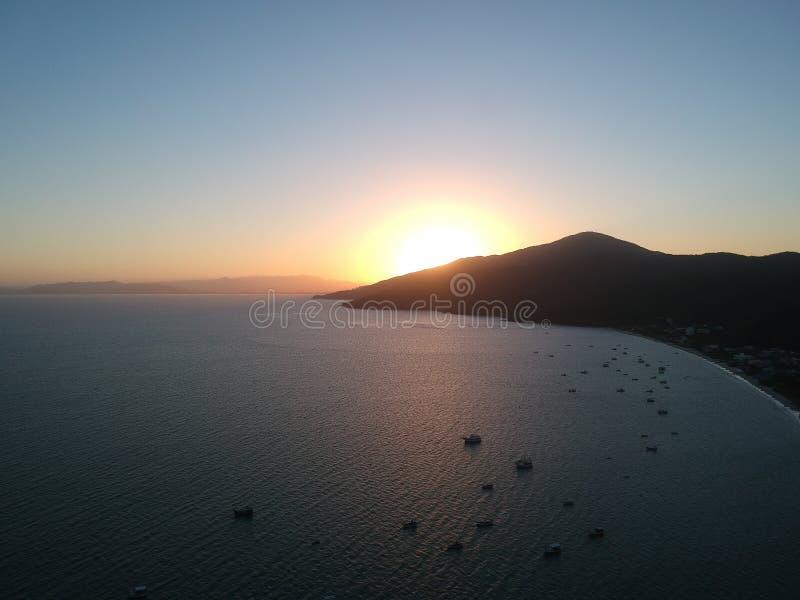 Ηλιοβασίλεμα στην παραλία Zimbros στοκ φωτογραφία με δικαίωμα ελεύθερης χρήσης