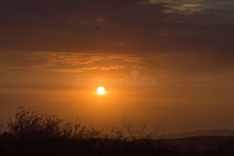Ηλιοβασίλεμα στην πόλη Arequipa στο Περού στοκ εικόνες με δικαίωμα ελεύθερης χρήσης