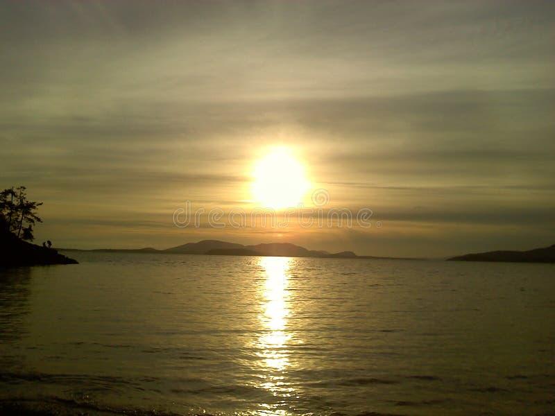 Ηλιοβασίλεμα στη δυτική ακτή στοκ φωτογραφία με δικαίωμα ελεύθερης χρήσης