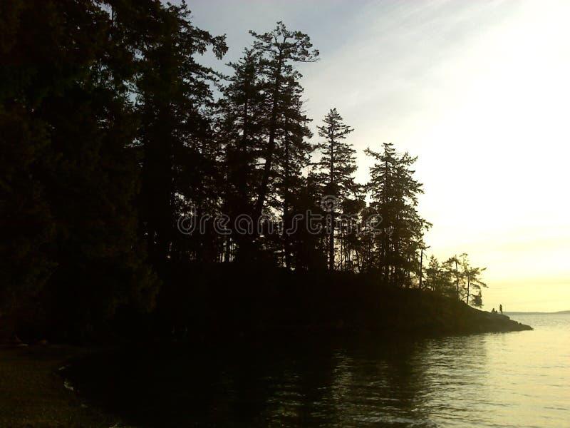 Ηλιοβασίλεμα στη δυτική ακτή στοκ φωτογραφίες με δικαίωμα ελεύθερης χρήσης
