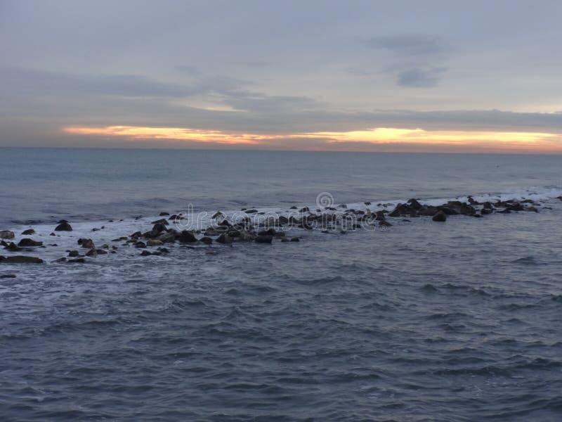 Ηλιοβασίλεμα στη θάλασσα 1 Tirreno στοκ φωτογραφία με δικαίωμα ελεύθερης χρήσης