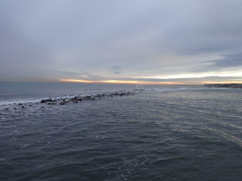 Ηλιοβασίλεμα στη θάλασσα 2 Tirreno στοκ φωτογραφία με δικαίωμα ελεύθερης χρήσης