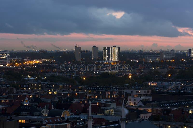 Ηλιοβασίλεμα στη Χάγη στοκ φωτογραφίες με δικαίωμα ελεύθερης χρήσης