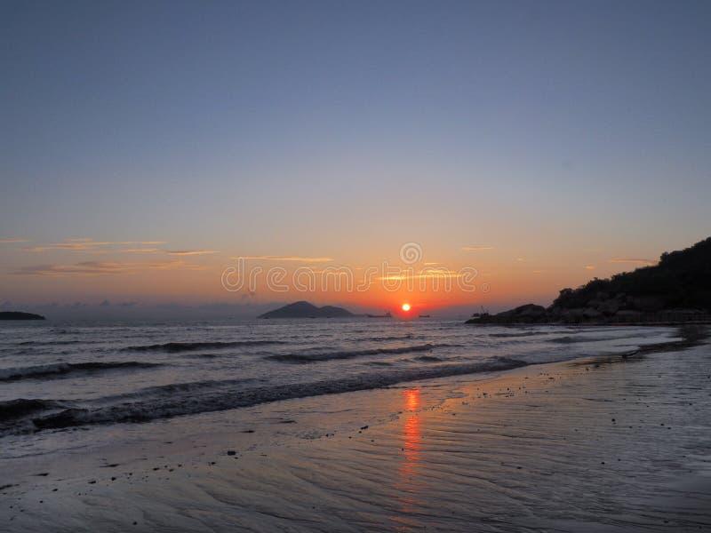 Ηλιοβασίλεμα στον πνεύμονα Kwu Tan στοκ φωτογραφία με δικαίωμα ελεύθερης χρήσης