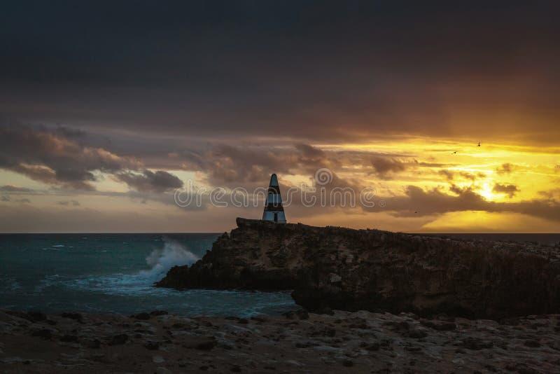 Ηλιοβασίλεμα στο ακρωτήριο στην τήβεννο, Νότια Αυστραλία στοκ φωτογραφίες