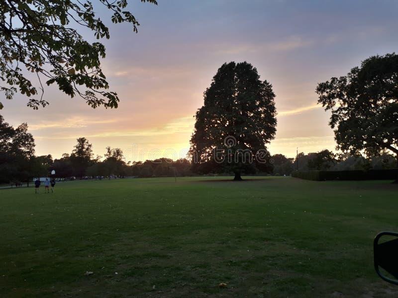 Ηλιοβασίλεμα στο crewe στοκ εικόνα
