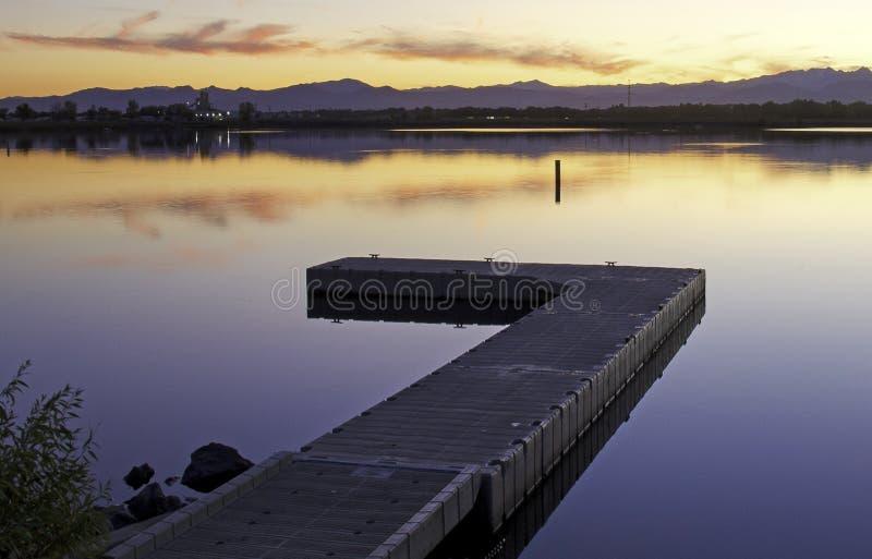 Ηλιοβασίλεμα στο Longmont, Κολοράντο στοκ φωτογραφίες με δικαίωμα ελεύθερης χρήσης