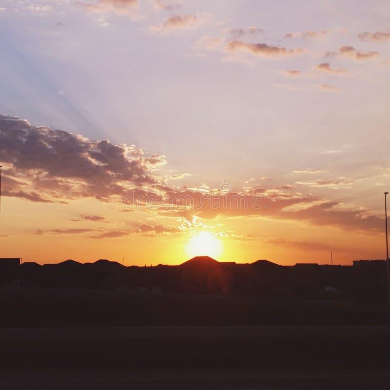 ηλιοβασίλεμα στο stonebridge στοκ εικόνες