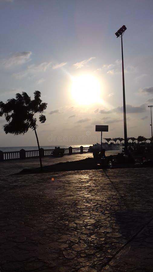 Ηλιοβασίλεμα συμπαθητικό στοκ εικόνα με δικαίωμα ελεύθερης χρήσης