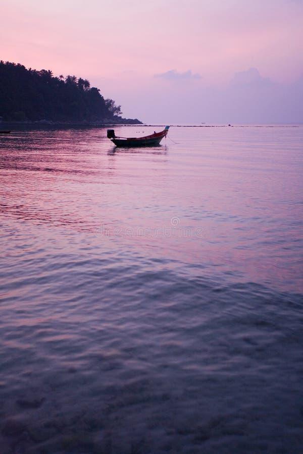 ηλιοβασίλεμα Ταϊλάνδη τρ&om στοκ φωτογραφία