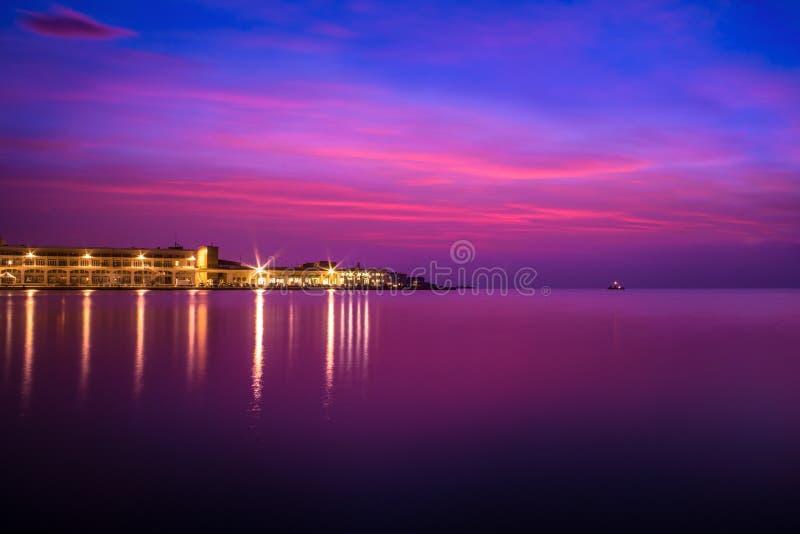 Ηλιοβασίλεμα Τεργέστη στοκ φωτογραφία με δικαίωμα ελεύθερης χρήσης