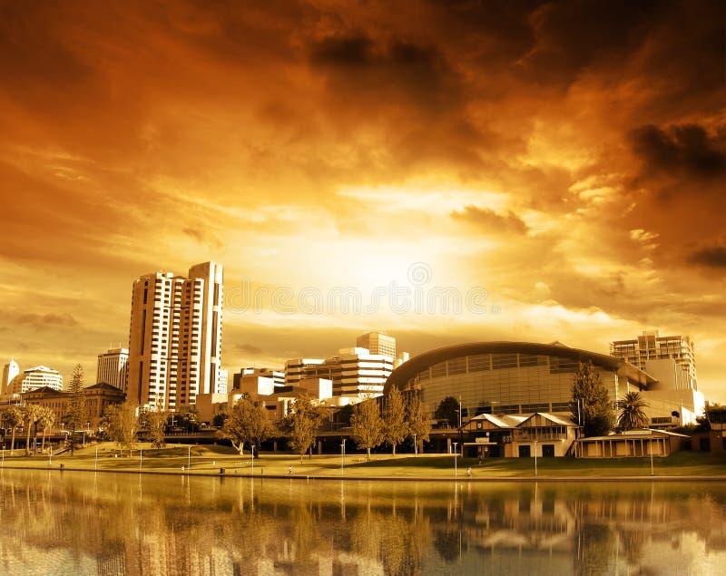 ηλιοβασίλεμα της Αδελ&a στοκ εικόνα