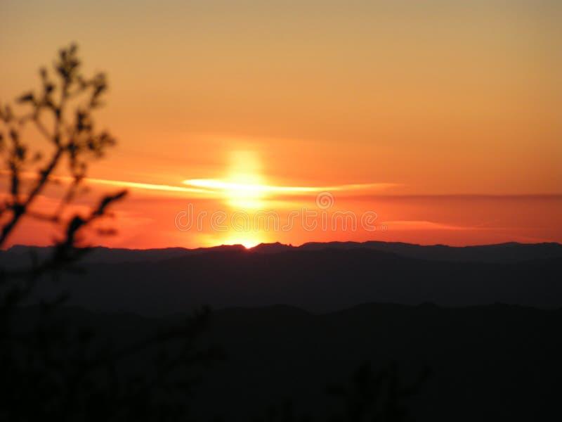 ηλιοβασίλεμα της Αριζόνα στοκ εικόνα με δικαίωμα ελεύθερης χρήσης
