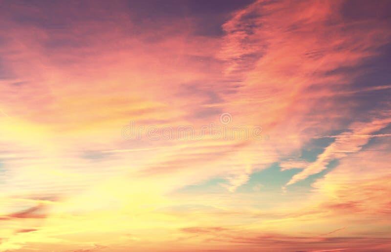 ηλιοβασίλεμα της θάλασσας της Βαλτικής ανασκόπησης στοκ φωτογραφία
