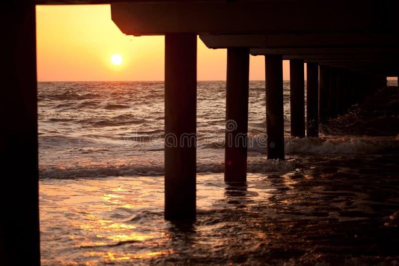 ηλιοβασίλεμα της θάλασσας της Βαλτικής στοκ φωτογραφίες με δικαίωμα ελεύθερης χρήσης