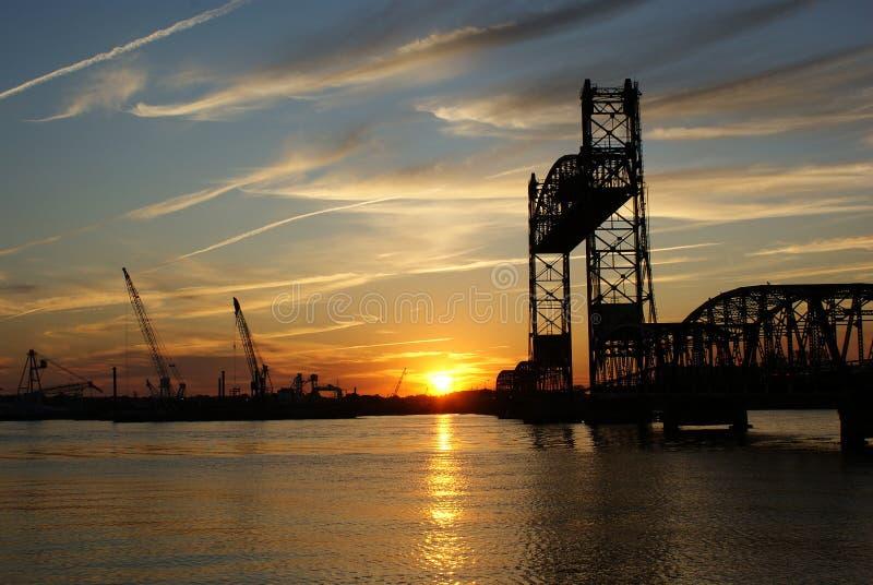 ηλιοβασίλεμα της Ιορδ&alpha στοκ φωτογραφίες με δικαίωμα ελεύθερης χρήσης