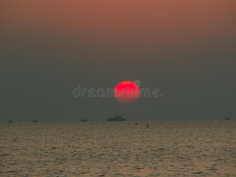 ηλιοβασίλεμα της Καμπότ&zeta στοκ φωτογραφία