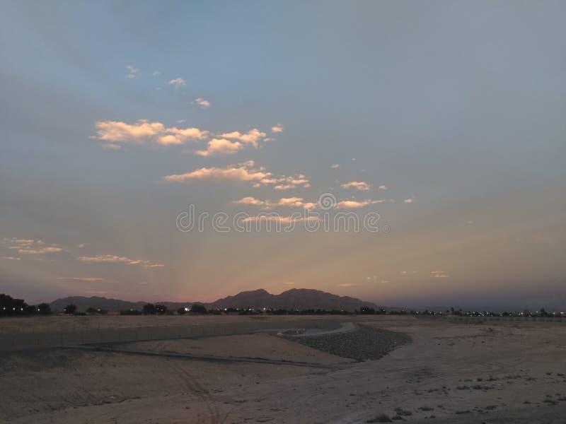 Ηλιοβασίλεμα της Κυριακής Vegas στοκ εικόνα