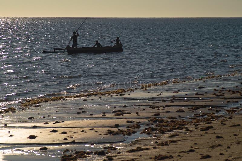 ηλιοβασίλεμα της Μαδαγ& στοκ εικόνες