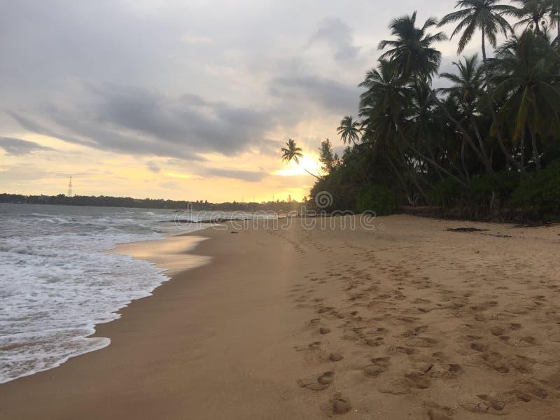 Ηλιοβασίλεμα της Σρι Λάνκα στοκ εικόνες