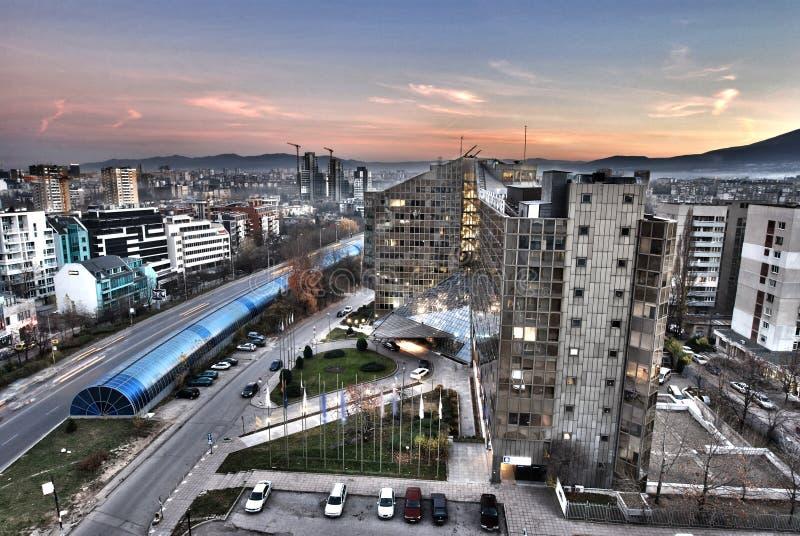 ηλιοβασίλεμα της Σόφια&sigmaf στοκ εικόνα με δικαίωμα ελεύθερης χρήσης
