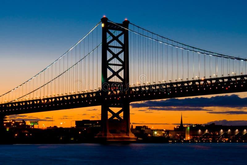 ηλιοβασίλεμα της Φιλαδέλφειας στοκ φωτογραφία με δικαίωμα ελεύθερης χρήσης