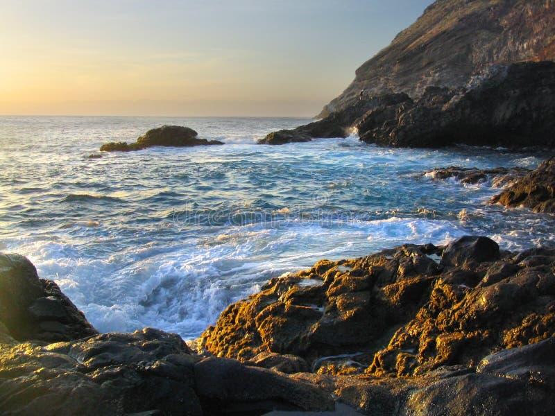 ηλιοβασίλεμα του Ατλαντικού Ωκεανού στοκ εικόνα