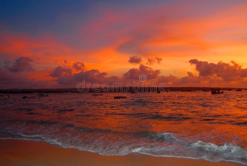 ηλιοβασίλεμα του Μπαλί στοκ εικόνα με δικαίωμα ελεύθερης χρήσης