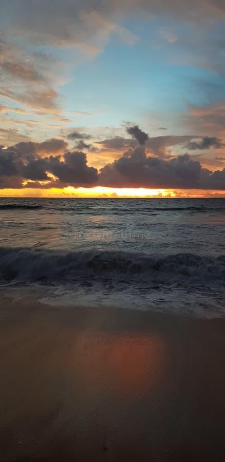Ηλιοβασίλεμα του Μπαλί Kuta στοκ εικόνες