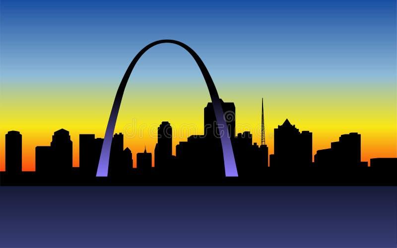 ηλιοβασίλεμα του Louis ST ελεύθερη απεικόνιση δικαιώματος