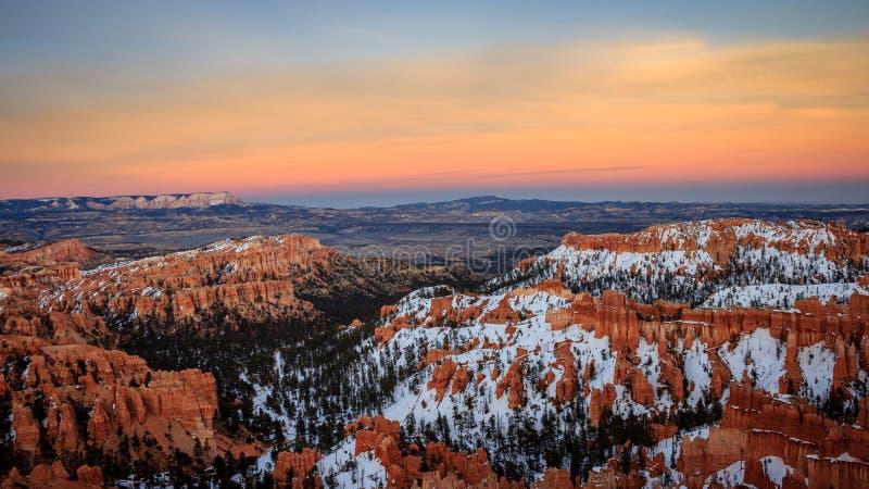 Ηλιοβασίλεμα φαραγγιών του Bryce στοκ φωτογραφίες με δικαίωμα ελεύθερης χρήσης
