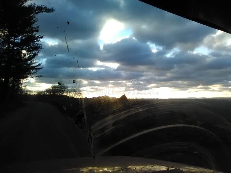 Ηλιοβασίλεμα όπου ζω στοκ εικόνα με δικαίωμα ελεύθερης χρήσης