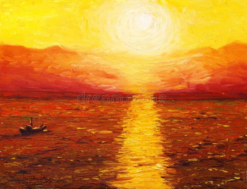 ηλιοβασίλεμα διανυσματική απεικόνιση