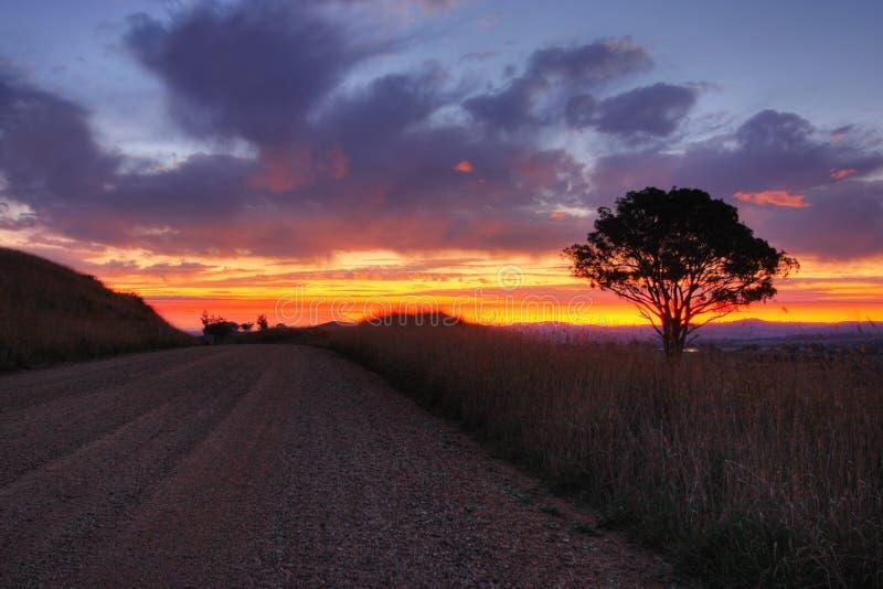 ηλιοβασίλεμα cowra στοκ φωτογραφία με δικαίωμα ελεύθερης χρήσης