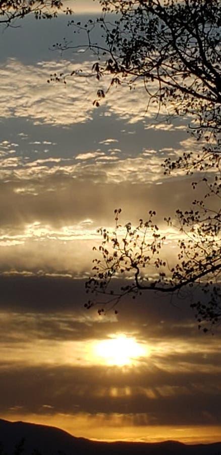 Ηλιοβασίλεμα Dreamtime στοκ φωτογραφία με δικαίωμα ελεύθερης χρήσης