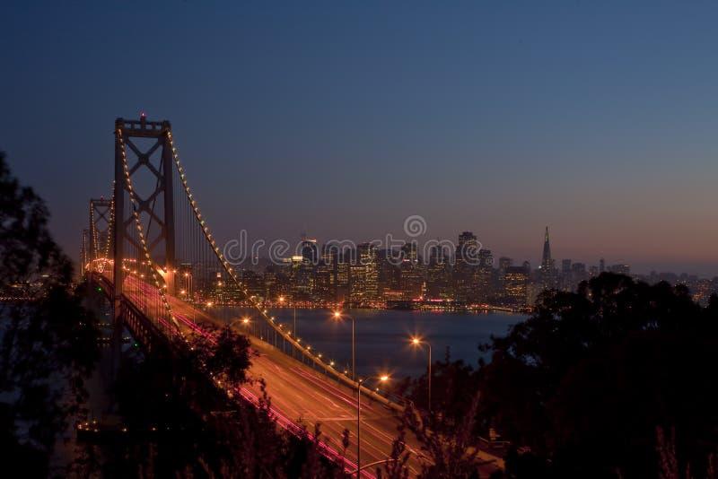 ηλιοβασίλεμα Francisco SAN γεφυρώ&n στοκ φωτογραφίες με δικαίωμα ελεύθερης χρήσης