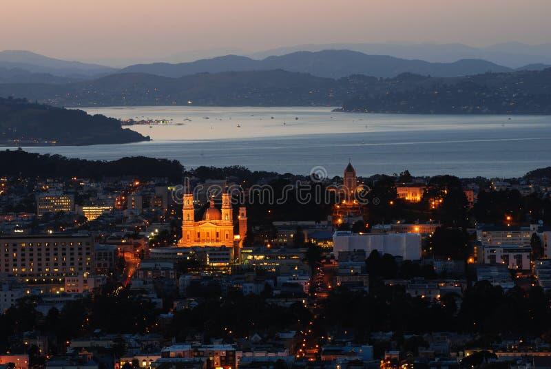 ηλιοβασίλεμα Francisco SAN στοκ φωτογραφίες με δικαίωμα ελεύθερης χρήσης