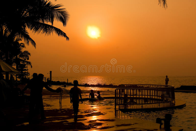 ηλιοβασίλεμα goa στοκ φωτογραφία με δικαίωμα ελεύθερης χρήσης