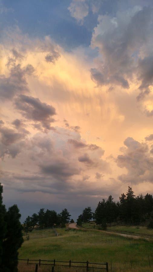 Ηλιοβασίλεμα Livermore στοκ φωτογραφίες