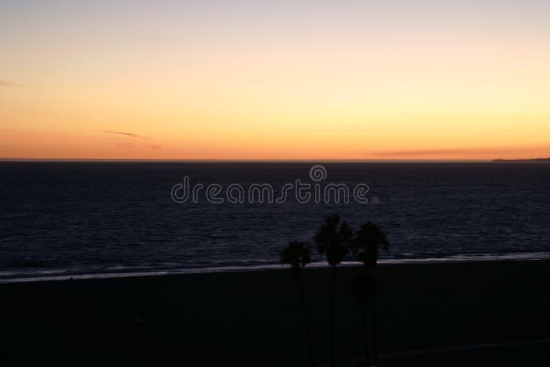 Ηλιοβασίλεμα Malibu στοκ εικόνα