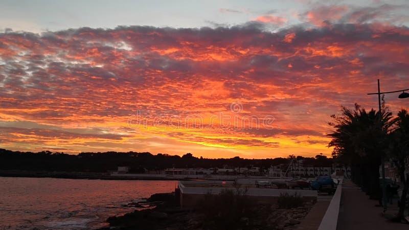 Ηλιοβασίλεμα Menorcan στοκ φωτογραφίες