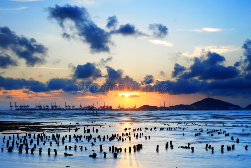ηλιοβασίλεμα ngai pak στοκ φωτογραφία με δικαίωμα ελεύθερης χρήσης