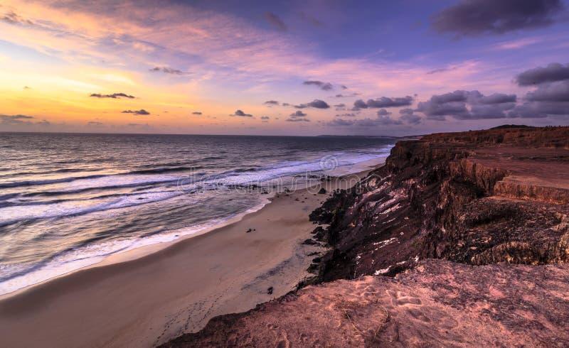Ηλιοβασίλεμα Pipa, Tibau do Sul - το Rio Grande κάνει Norte, Βραζιλία στοκ φωτογραφίες με δικαίωμα ελεύθερης χρήσης