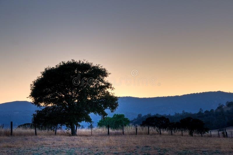 Ηλιοβασίλεμα Rancheria στοκ εικόνες