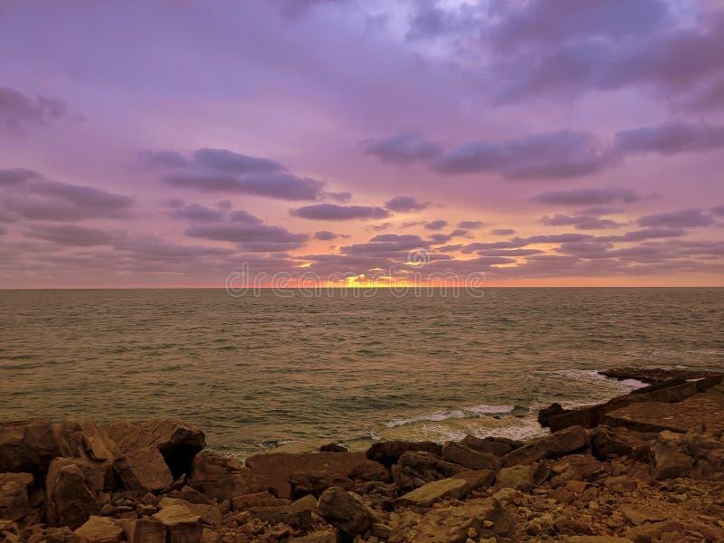 Ηλιοβασίλεμα Southwell στοκ εικόνες