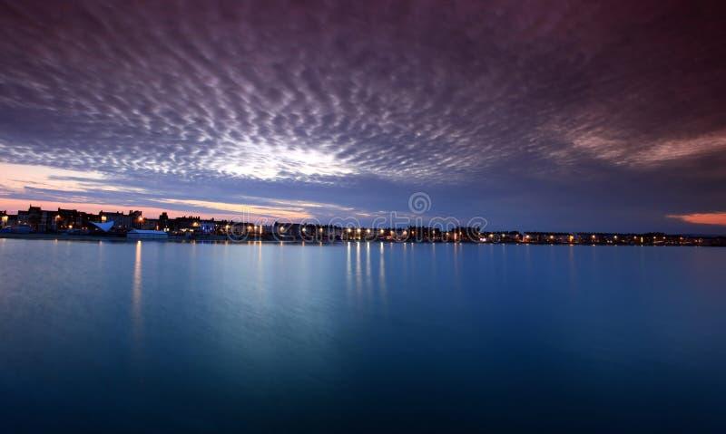 Ηλιοβασίλεμα Weymouth στο Dorset Αγγλία στοκ φωτογραφίες με δικαίωμα ελεύθερης χρήσης