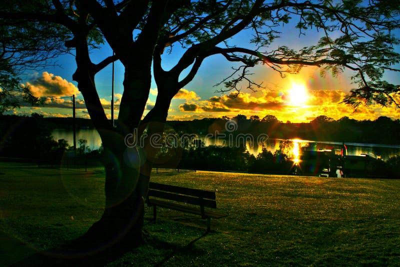 ηλιοφάνεια ακτών της Αυσ&t στοκ φωτογραφία