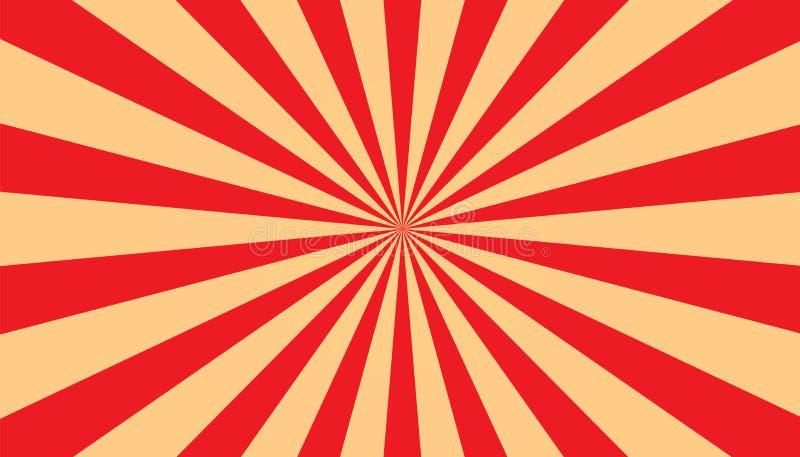 Ηλιοφάνεια - αφηρημένο κόκκινο και μπεζ υπόβαθρο - διανυσματική απεικόνιση διανυσματική απεικόνιση