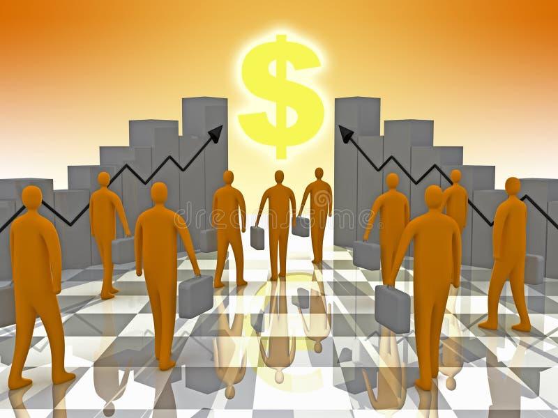 ηλιοφάνεια επιχειρησιακών δολαρίων απεικόνιση αποθεμάτων