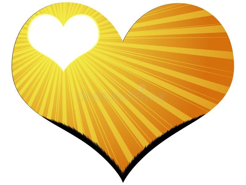 ηλιοφάνεια καρδιών απεικόνιση αποθεμάτων
